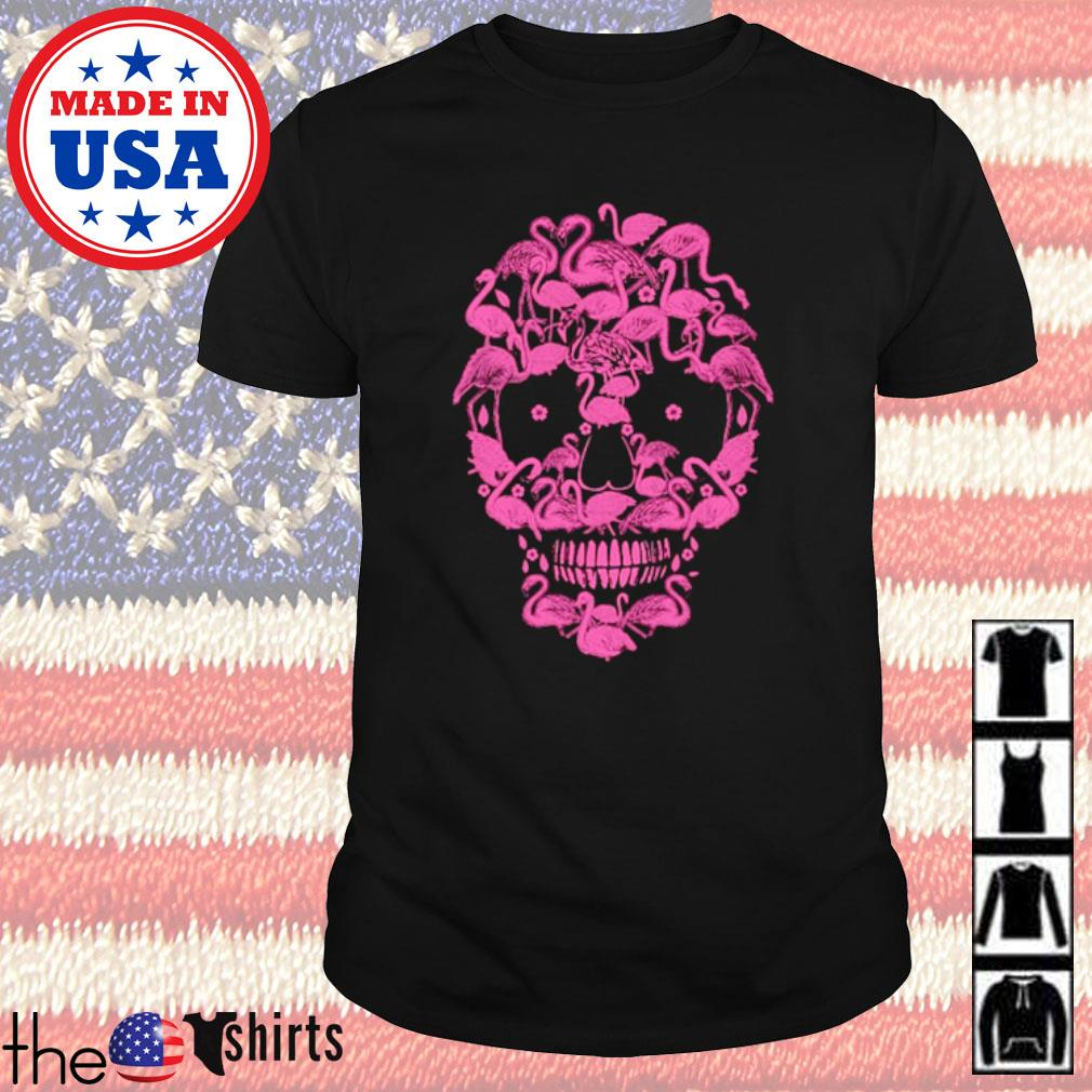 Halloween Skull face flamingos shirt