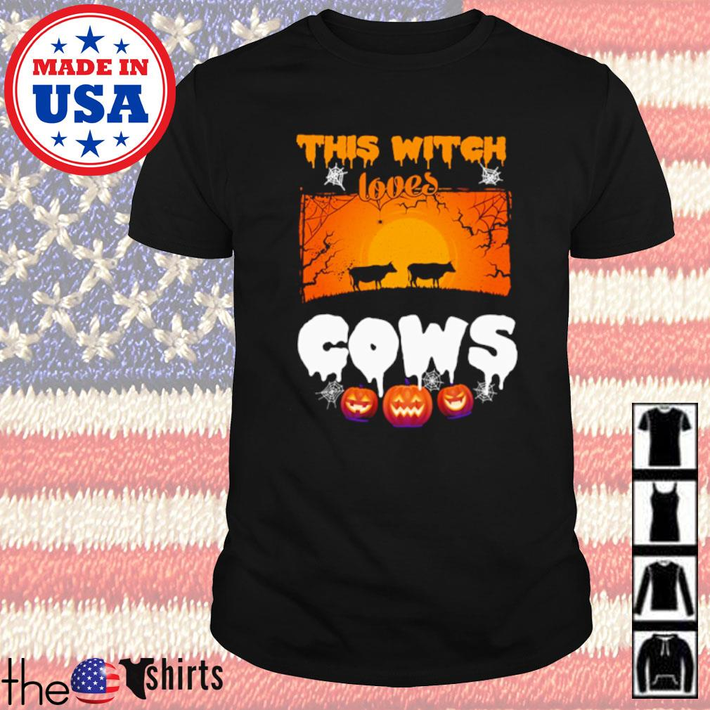 Halloween this witch loves cows shirt