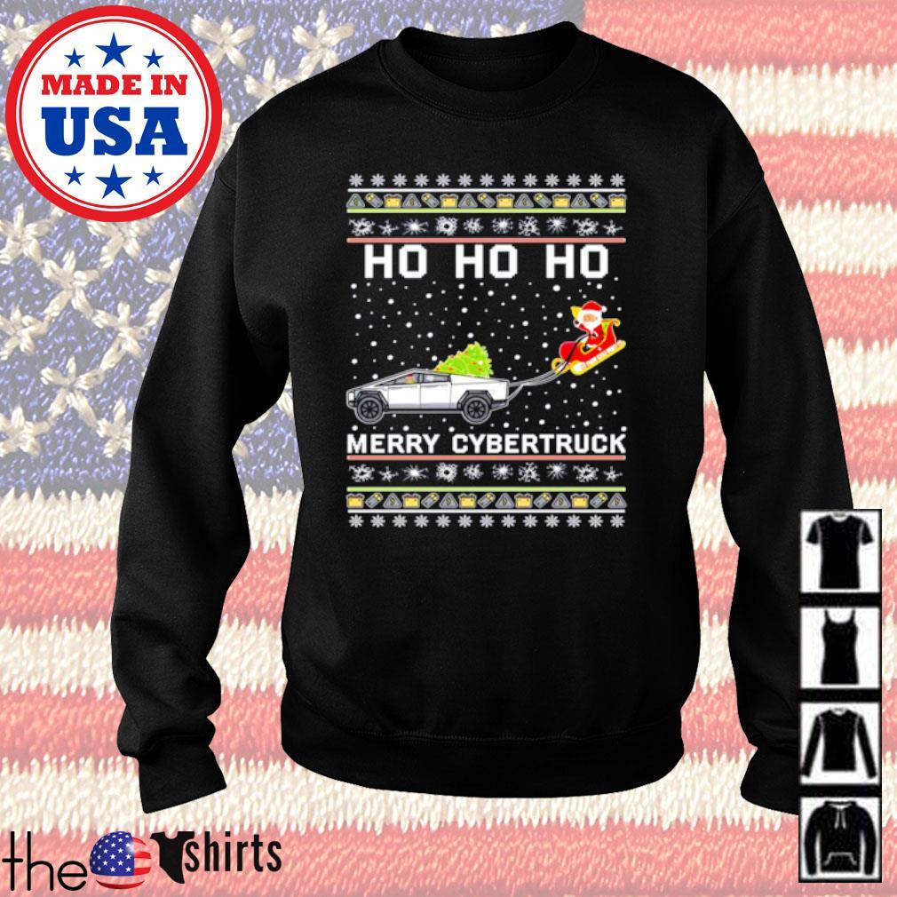 Ho Ho Ho Merry Cybertruck Santa Claus ugly Christmas sweater