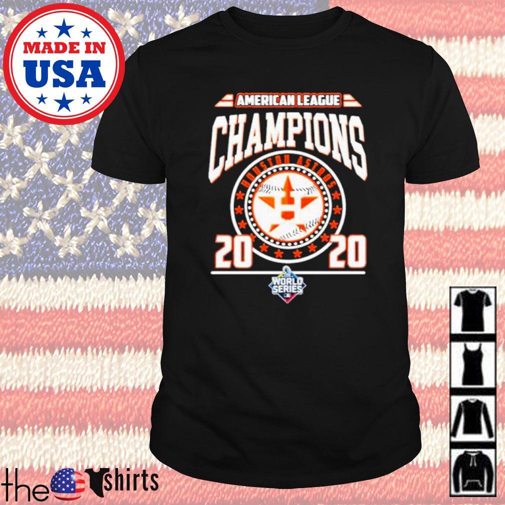 Houston Astros American league Champions 2020 world series shirt