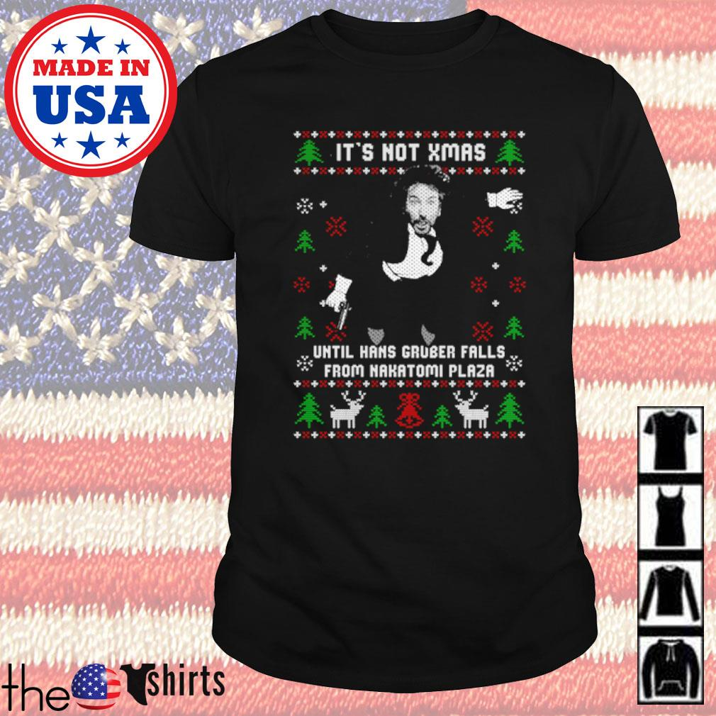 It's not Xmas until hans gruber falls from Nakatomi plaza ugly Christmas sweater shirt