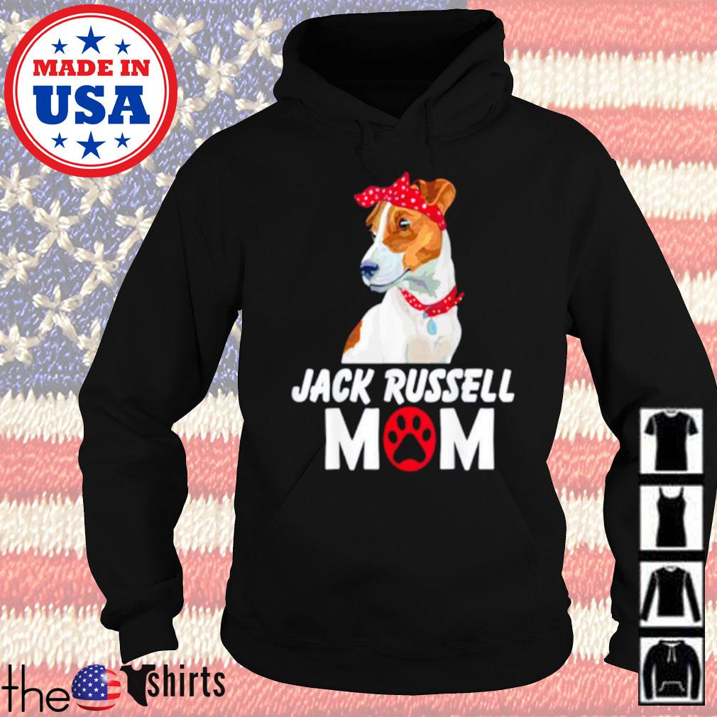 Jack Russell wearing red bandana mom s Hoodie