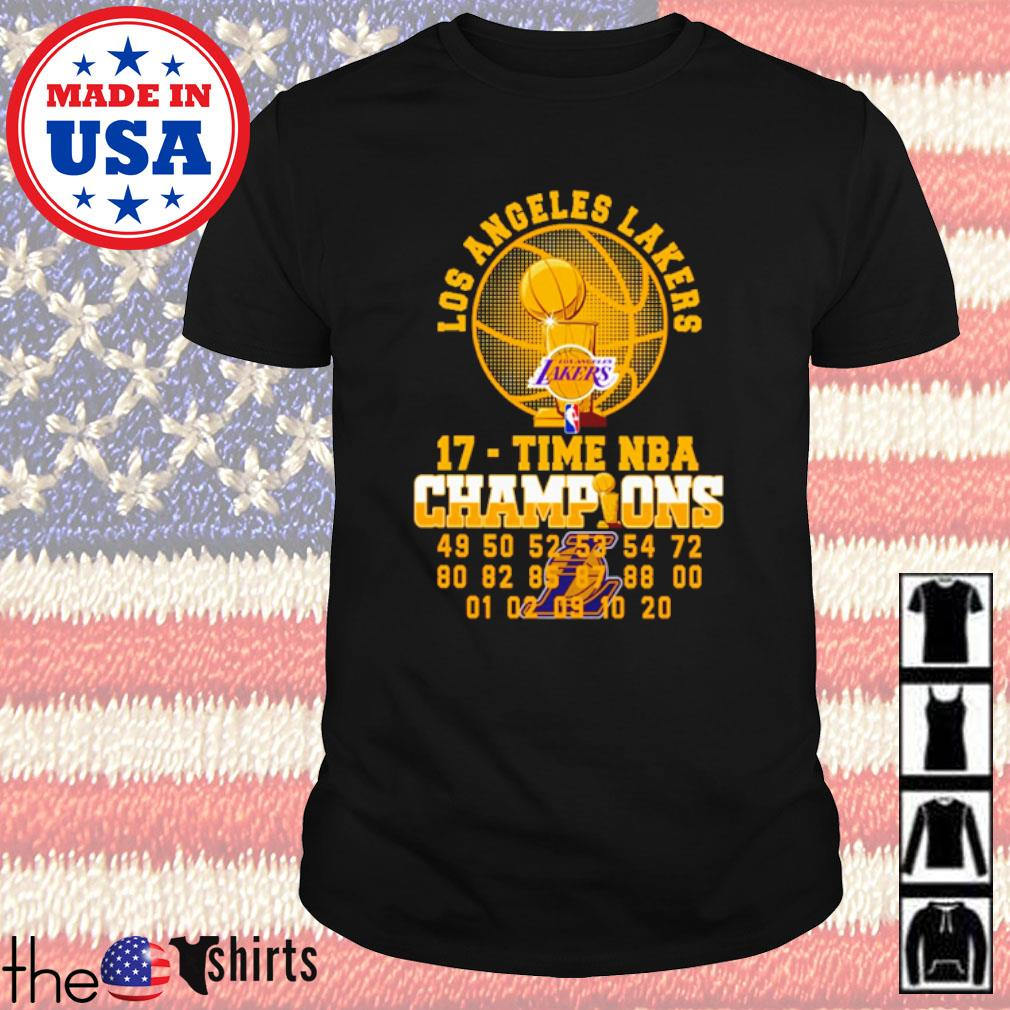 Los Angeles Lakers 17-Time NBA champions shirt