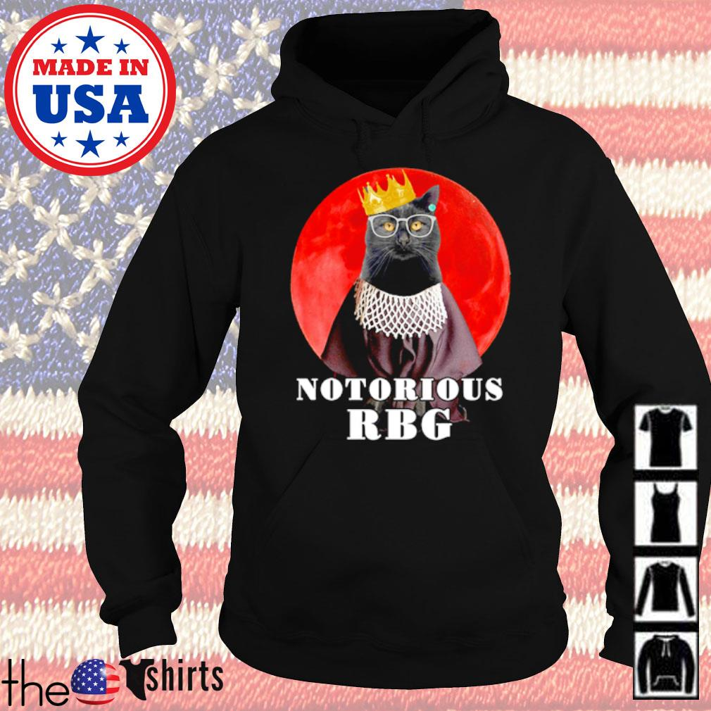 Princess black cat notorious RBG blood moon s Hoodie