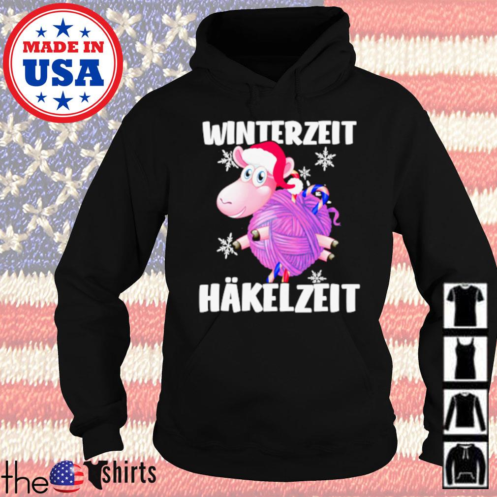Sheep Santa hat Winterzeit Hakelzeit Christmas sweater Hoodie
