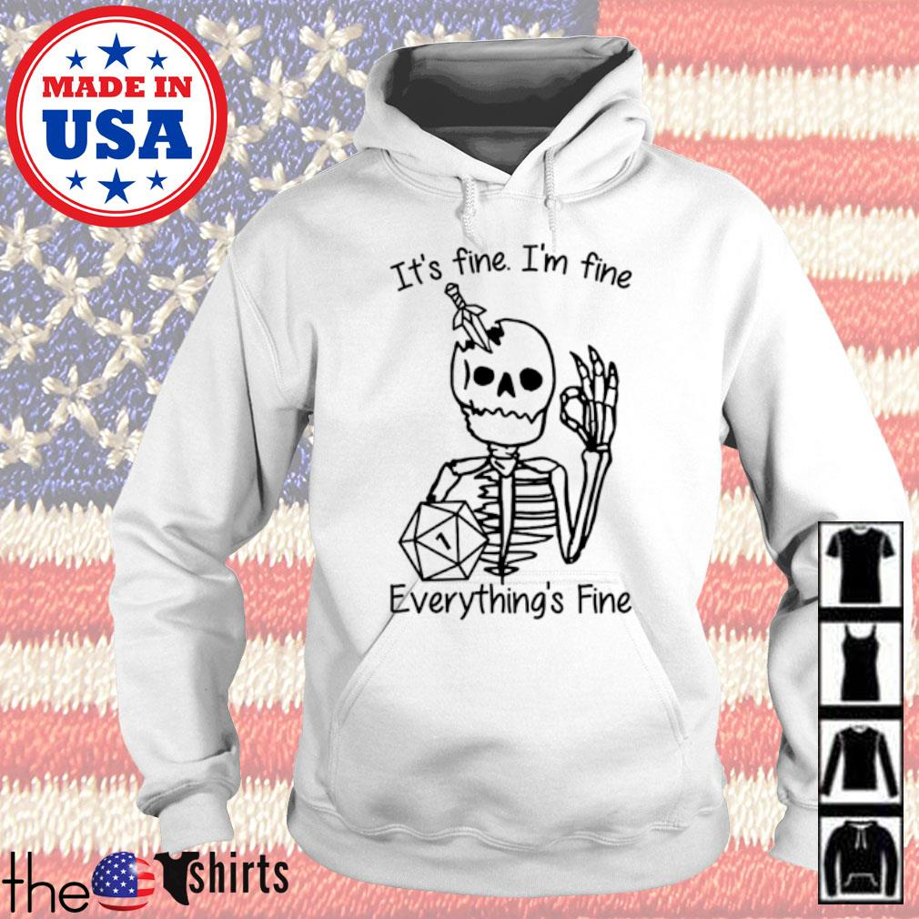 Skeleton hold dungeon it's fine I'm fine everything's fine s Hoodie