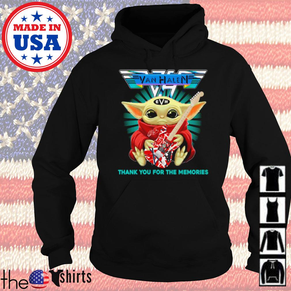 Star Wars Baby Yoda play guitar Eddie Van Halen thank you for the memories s Hoodie