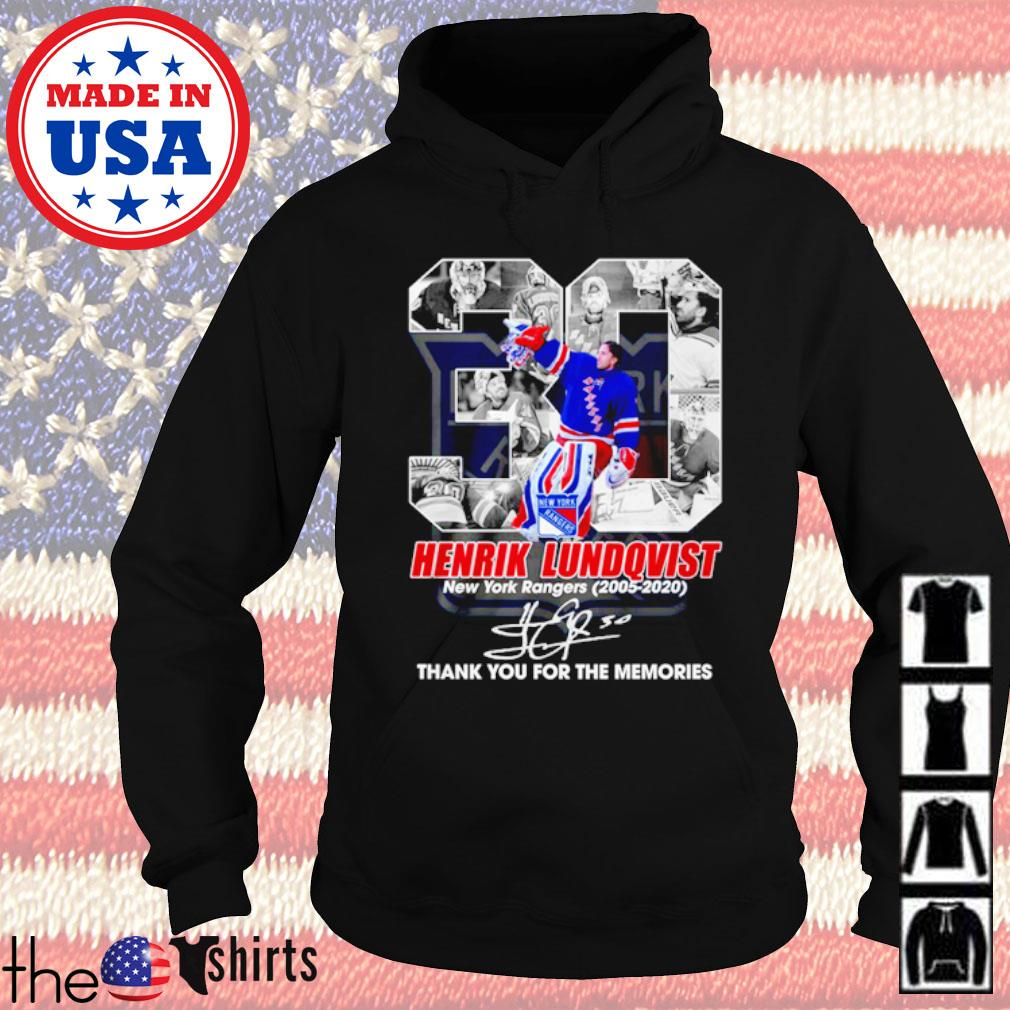 Thank you for the memories 30 Henrik Lundqvist New York Rangers 2005-2020 signatures s Hoodie Black