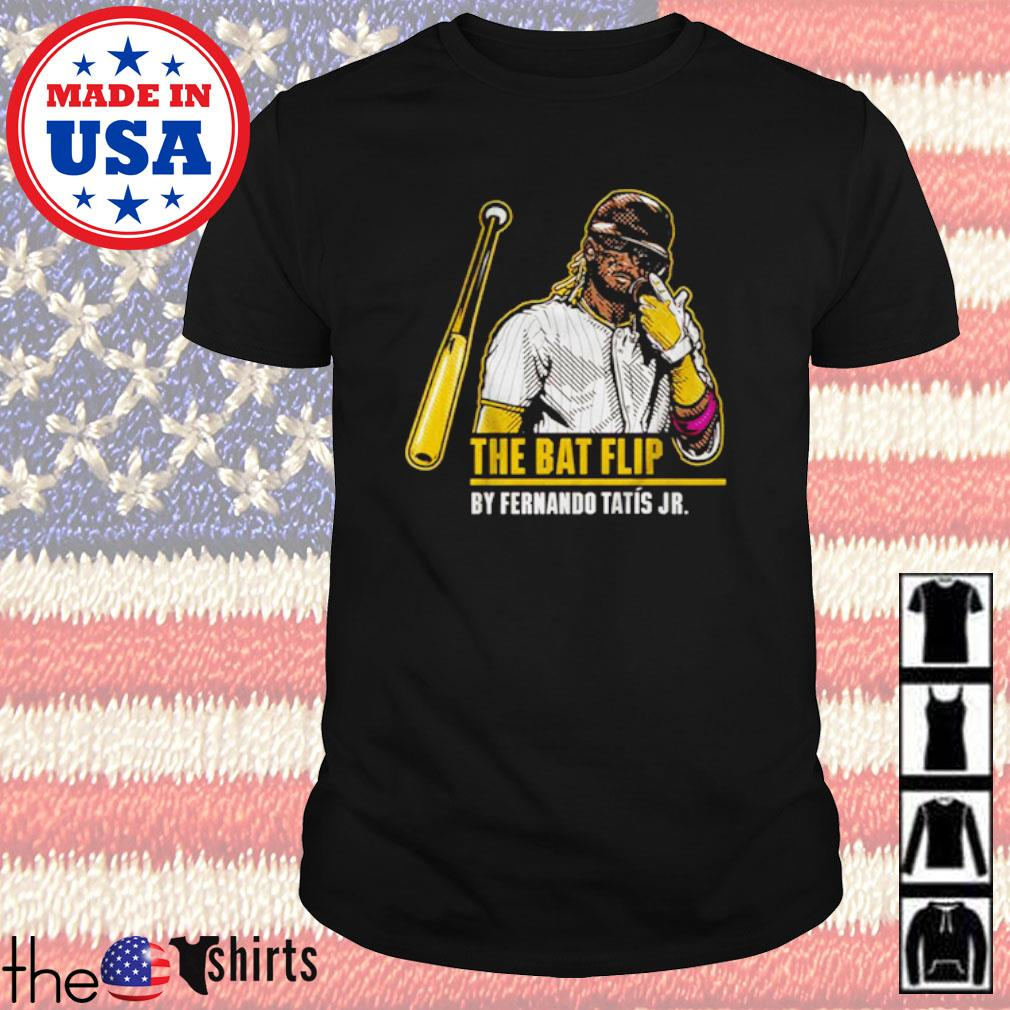 The bat flip by Fernando Tatís Jr. baseball shirt