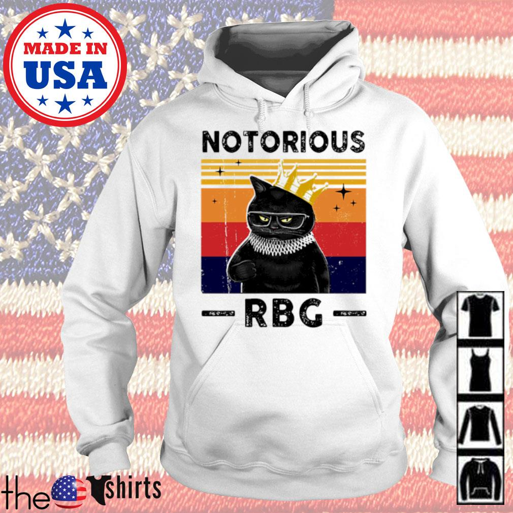 Vintage black cat notorious RBG s Hoodie