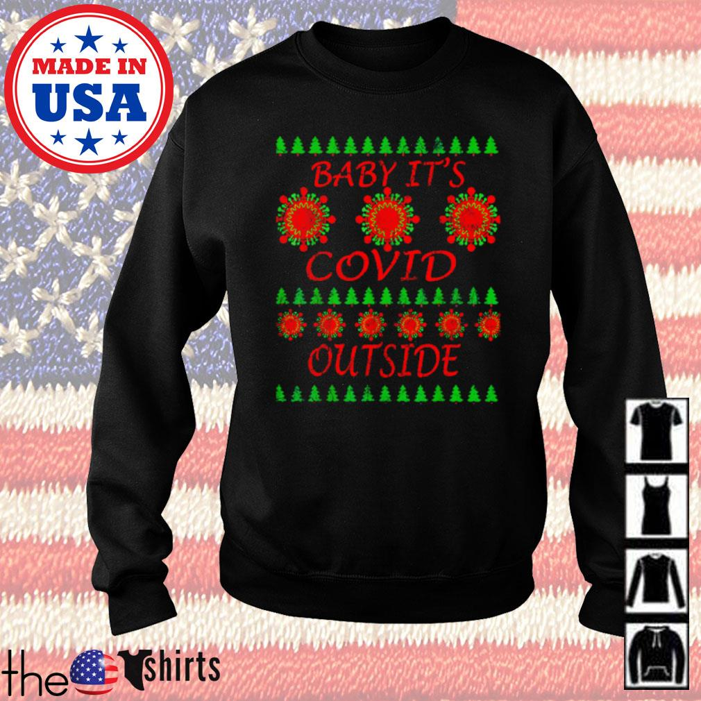 Baby it's COVID outside 2020 ugly Christmas sweater
