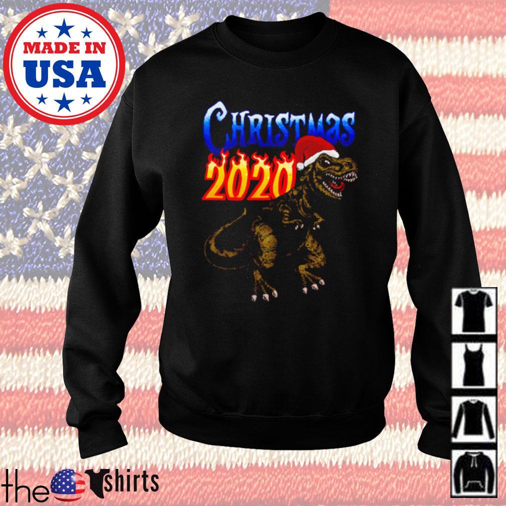 Dinosaur Santa hat Christmas 2020 sweater