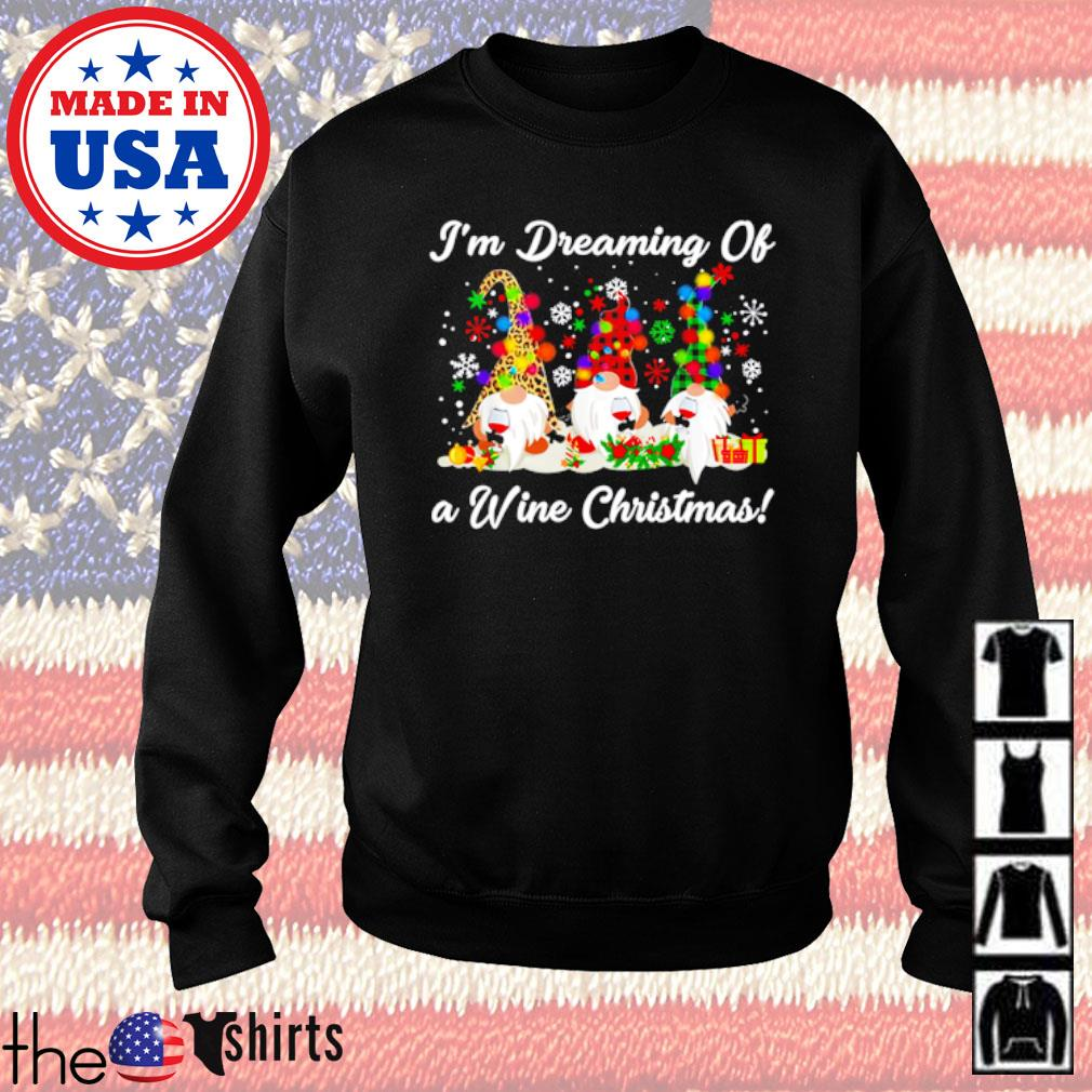 Gnomes I'm dreaming of a wine Christmas sweater