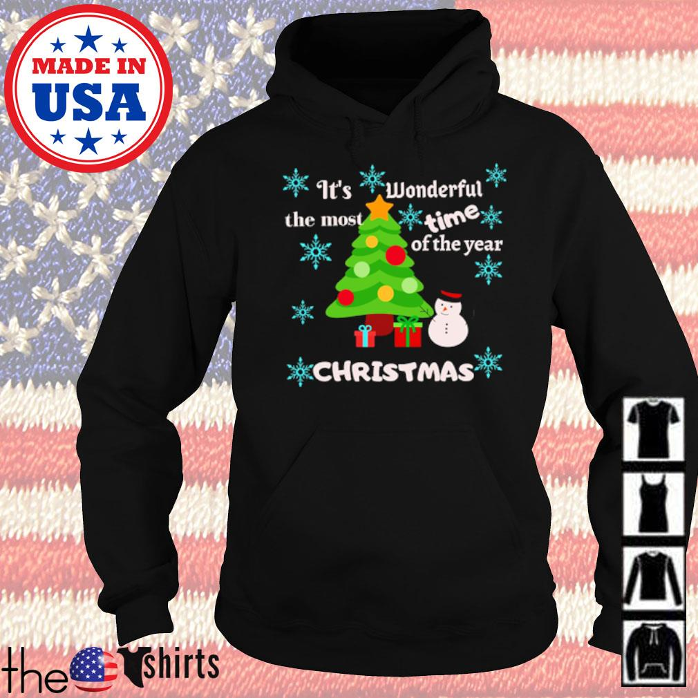 It's wonderful the most time of the year Christmas sweater Hoodie
