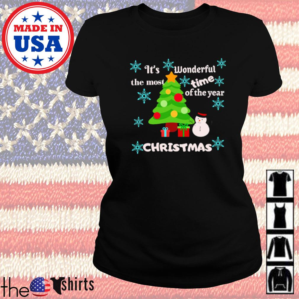 It's wonderful the most time of the year Christmas sweater Ladies tee