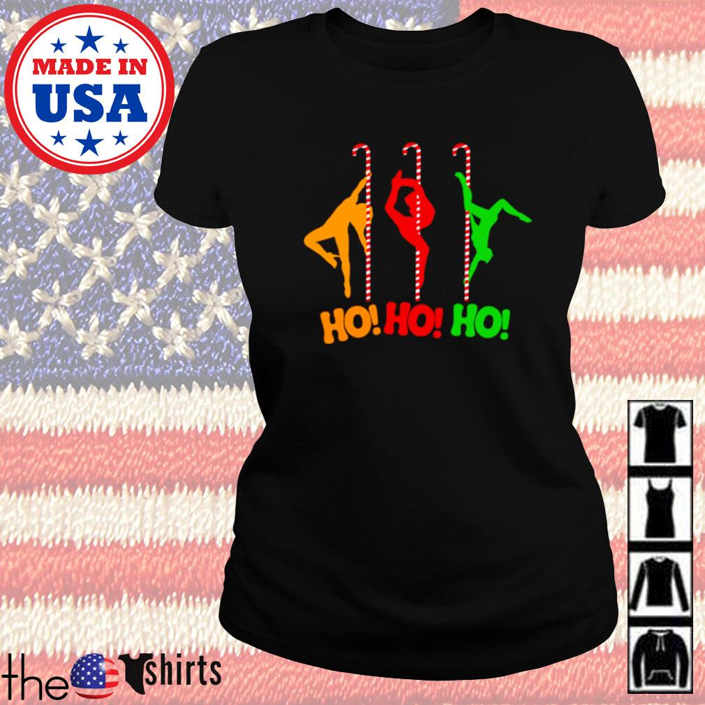Pole dancing workout and stripper Christmas sweater Ladies tee