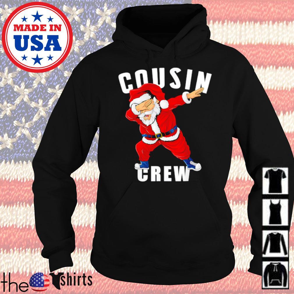 Santa Claus dabbing pajama cousin crew Christmas sweater Hoodie