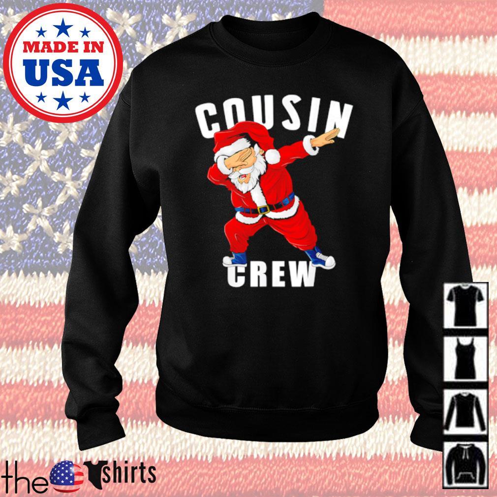 Santa Claus dabbing pajama cousin crew Christmas sweater
