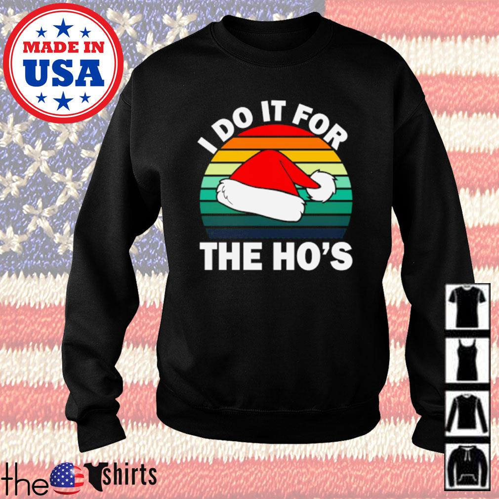 Santa hat I do it for the Ho's Christmas vintage sweater