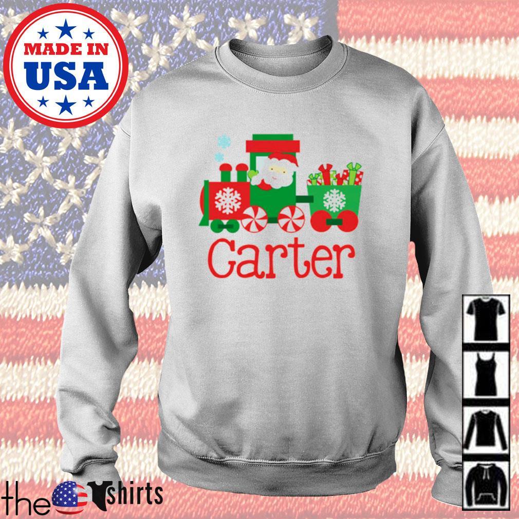 Santa train carter Christmas sweater
