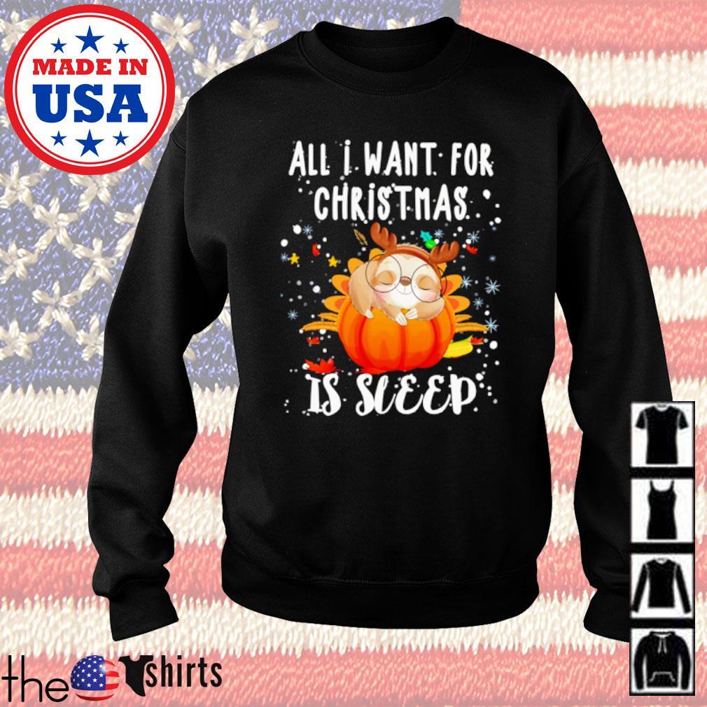 Sloth pajama all I want for Christmas is sleep sweater