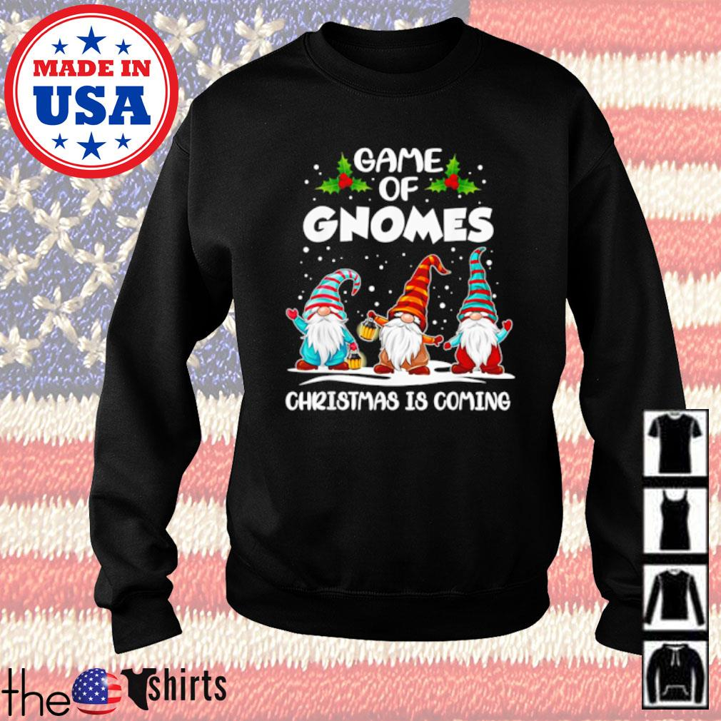 Three gnomes game of gnomes Christmas is coming sweater