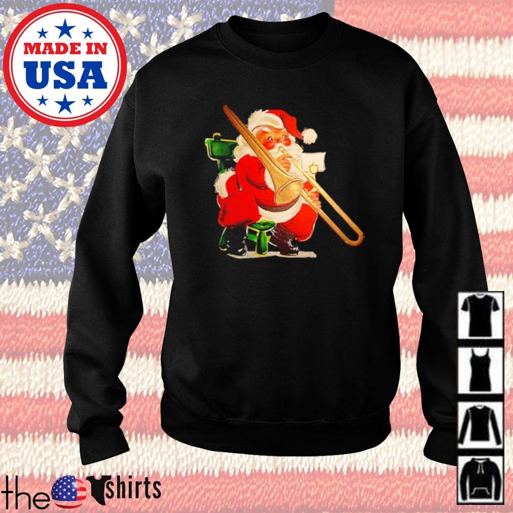 Trombonist Santa Claus Christmas sweater