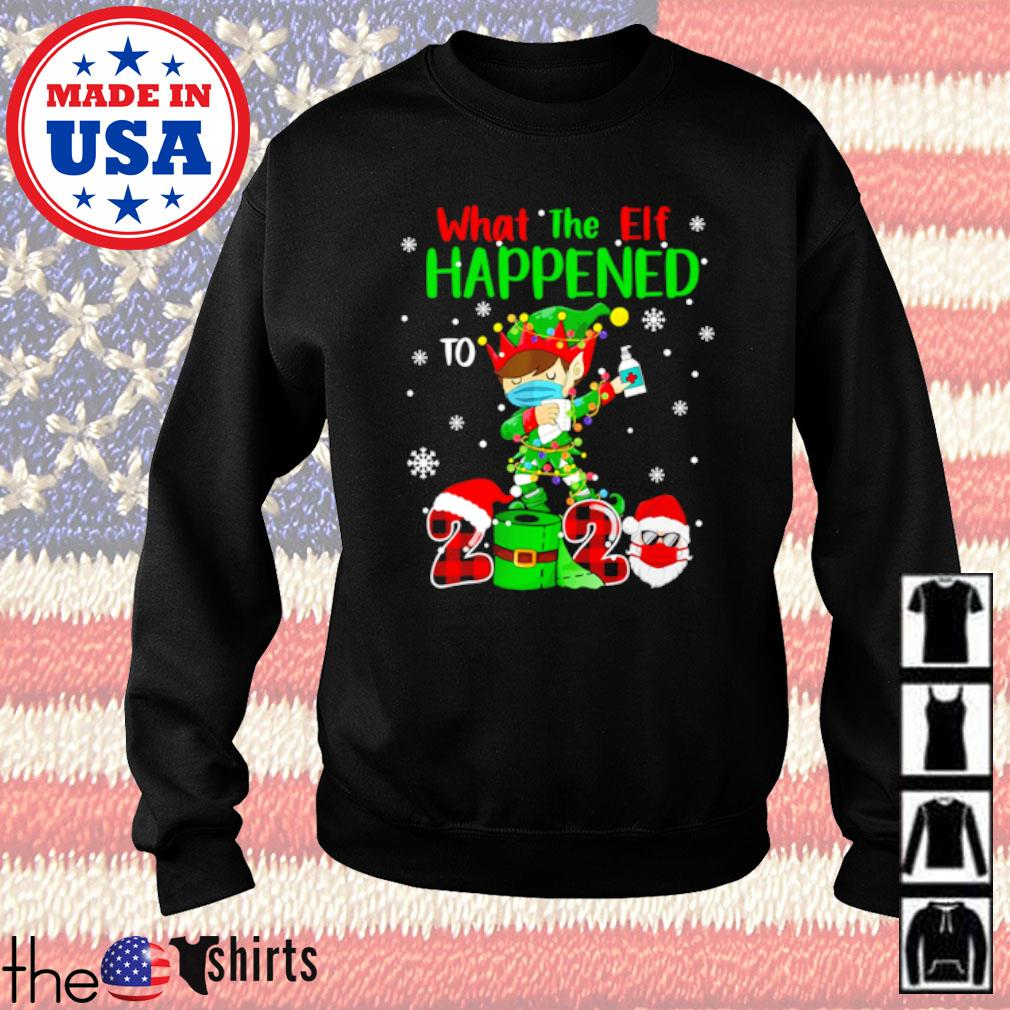 What the Elf happened to 2020 Elf dabbing wear mask Christmas sweater
