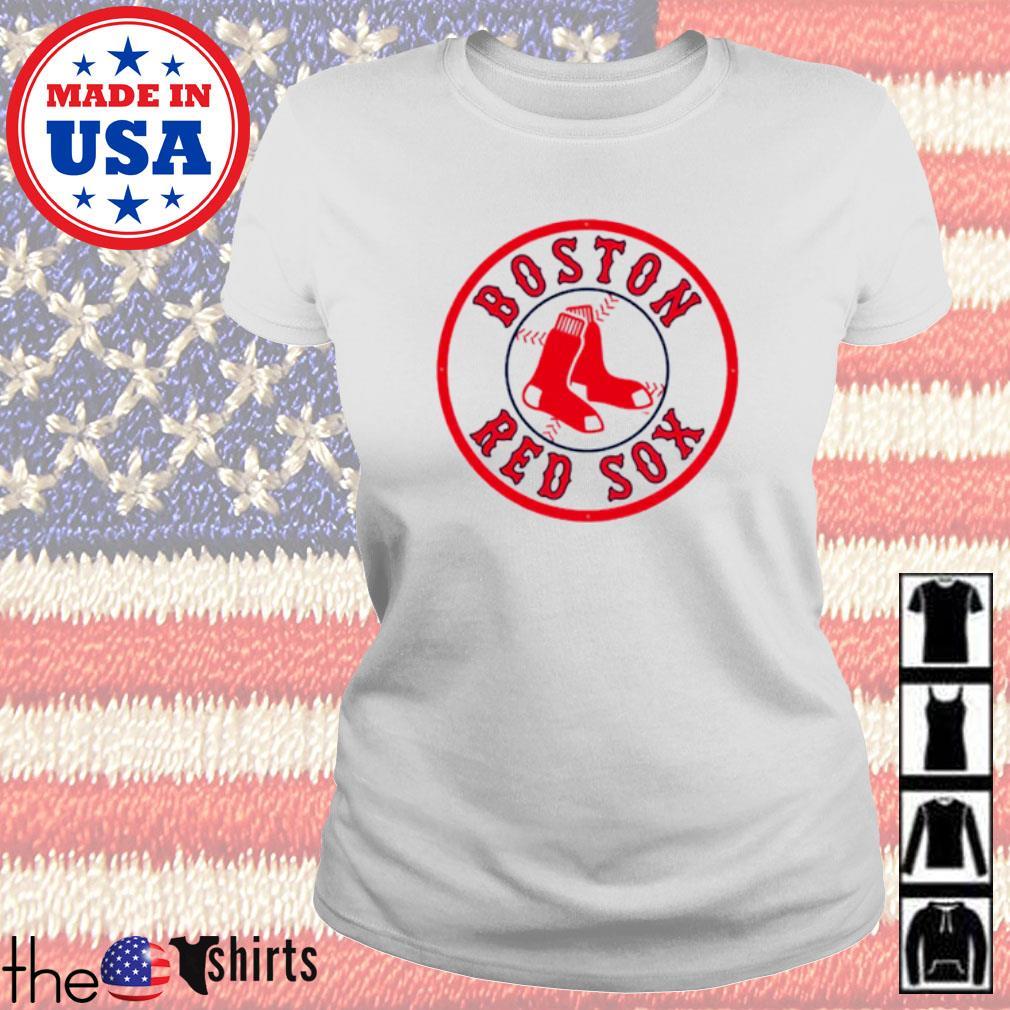Boston Red Sox socks s Ladies tee