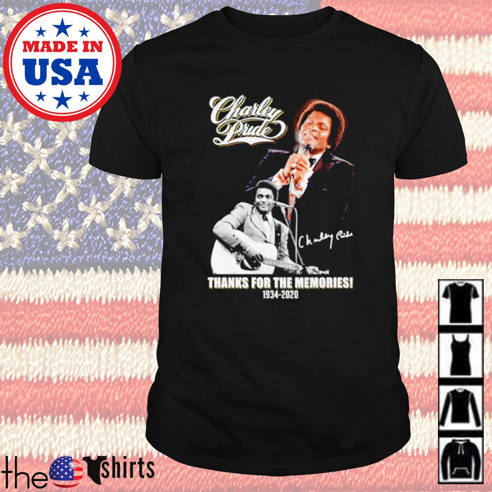Charley Pride thanks for the memories 1934-2020 signature shirt