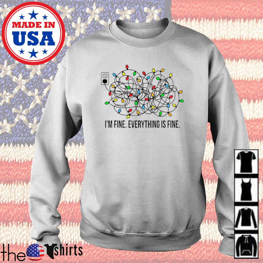 Christmas lights I'm fine everything is fine sweater