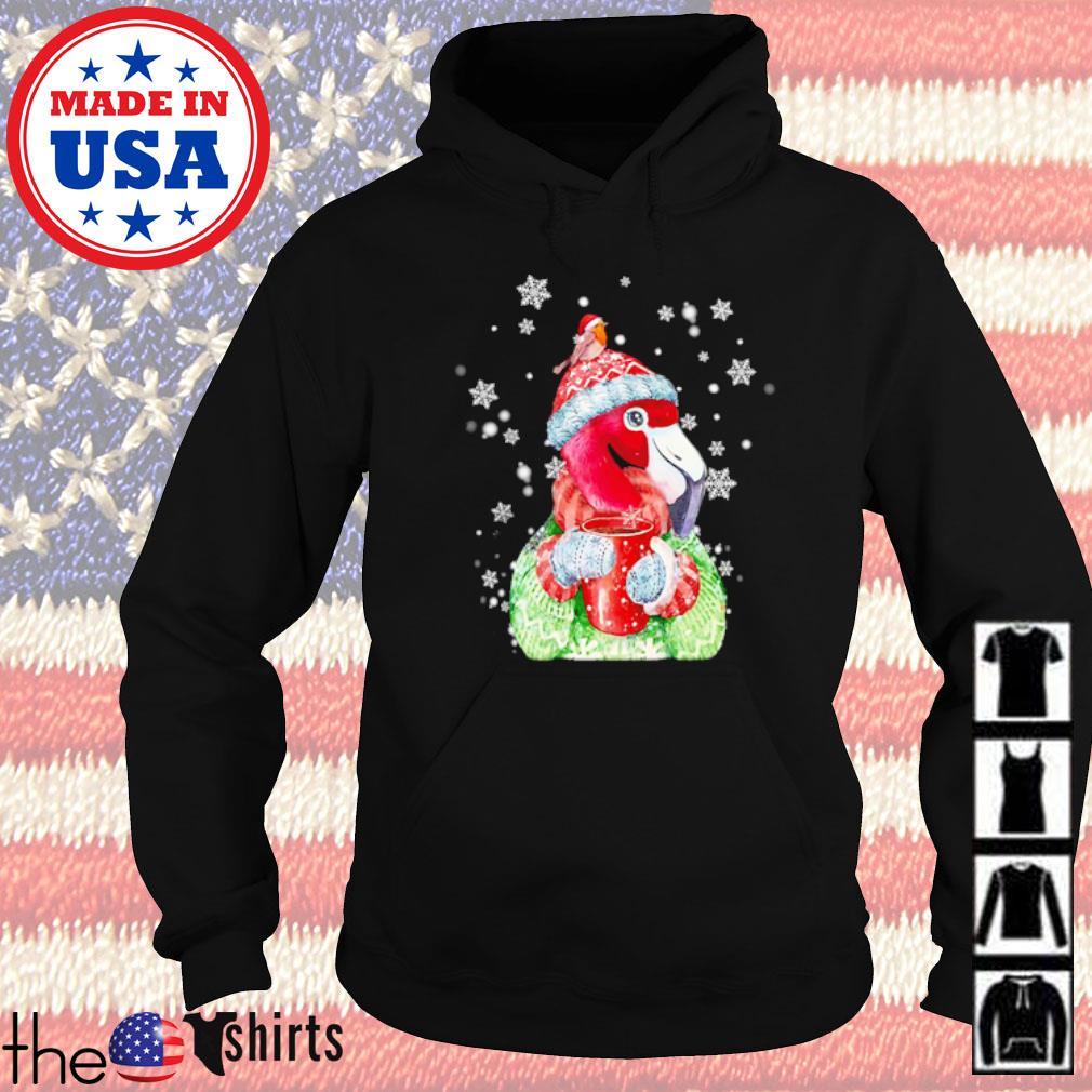 Flamingo warm winter Christmas bird lover Christmas sweater Hoodie