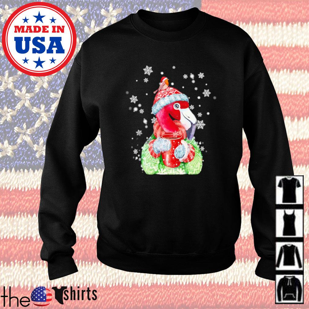 Flamingo warm winter Christmas bird lover Christmas sweater