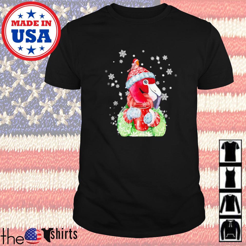 Flamingo warm winter Christmas bird lover Christmas sweater shirt