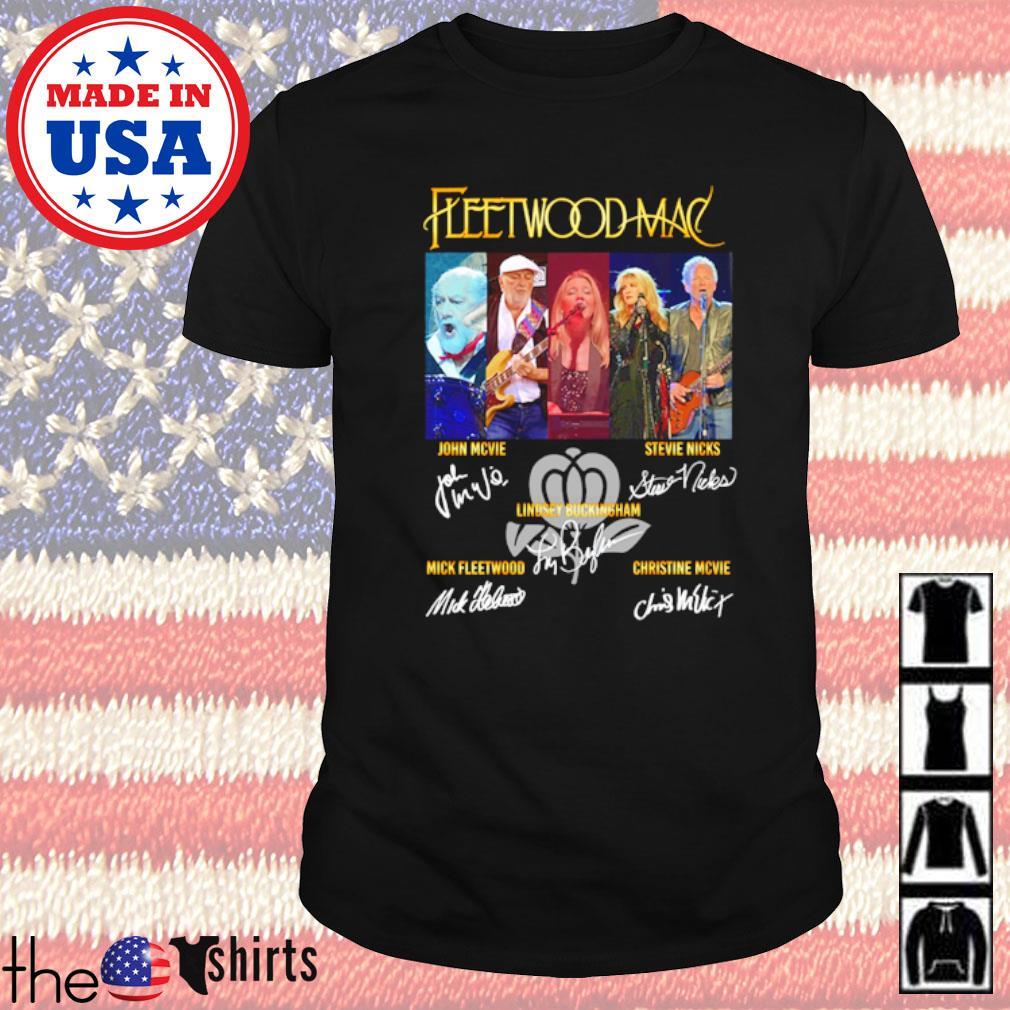 Fleetwood Mac all members signatures shirt