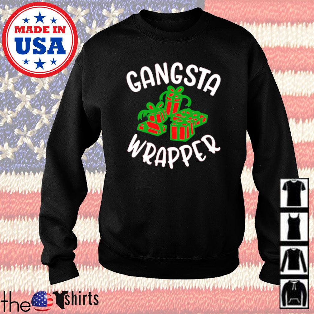 Gangsta wrapper gift Christmas sweater