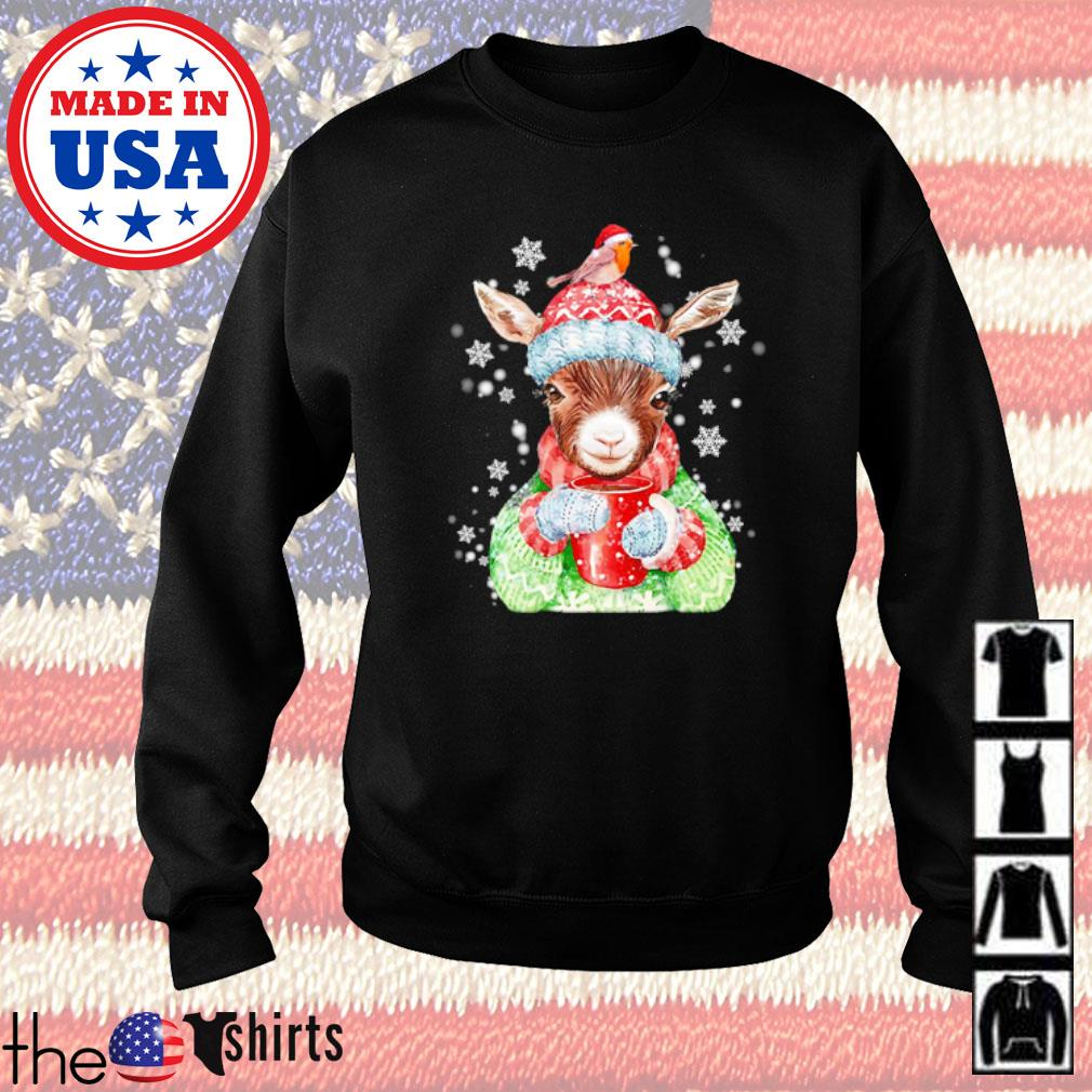 Goat warm winter gift for farm animal lover Christmas sweater