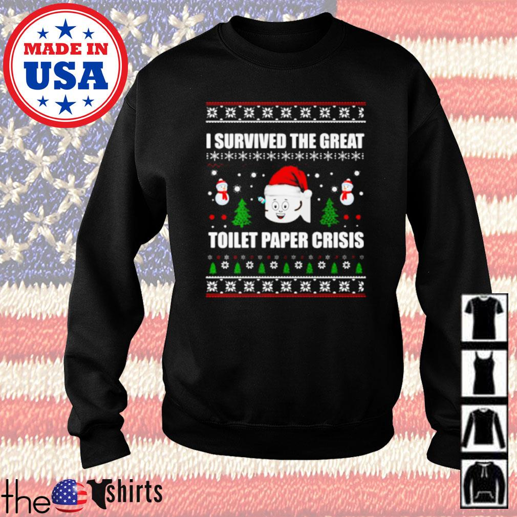 I survived the great toilet paper crisis ugly Christmas sweater