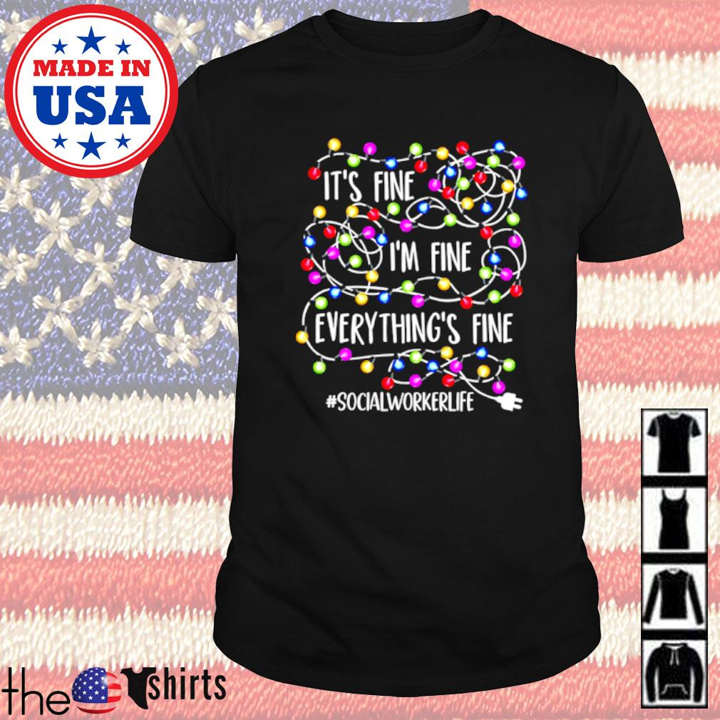 It's fine I'm fine everything's fine #socialworkerlife Christmas sweater shirt