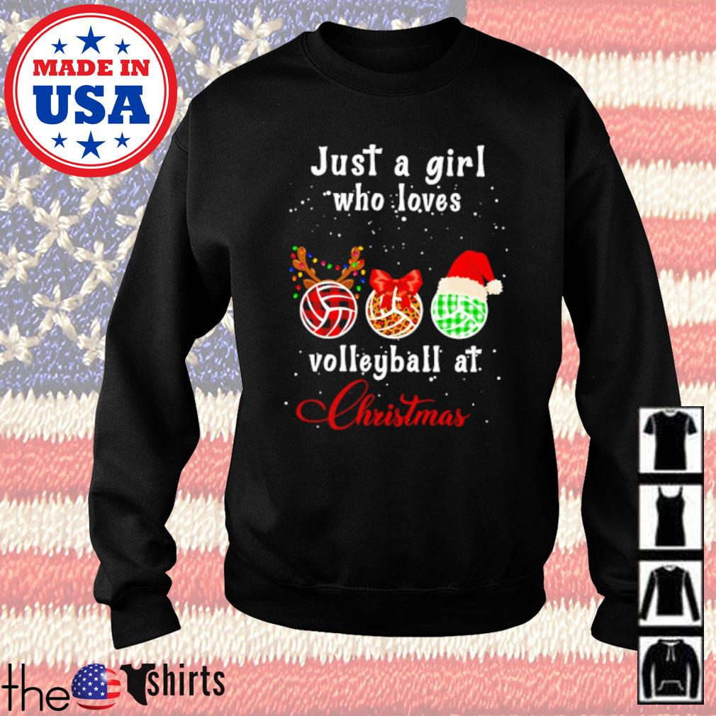 Just a girl who loves volleyball at Christmas sweater