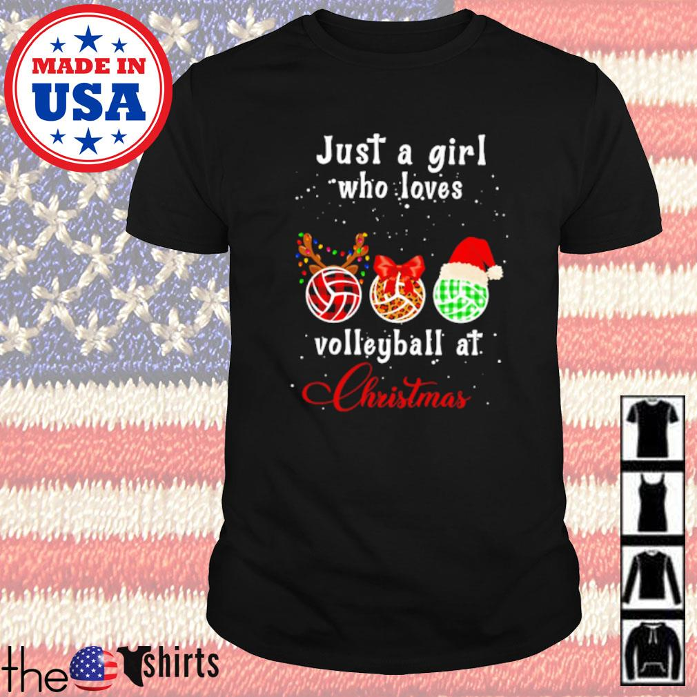 Just a girl who loves volleyball at Christmas sweater shirt