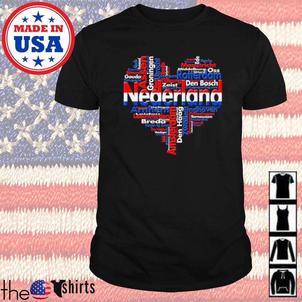 List of cities in the Netherland composed in heart shirt