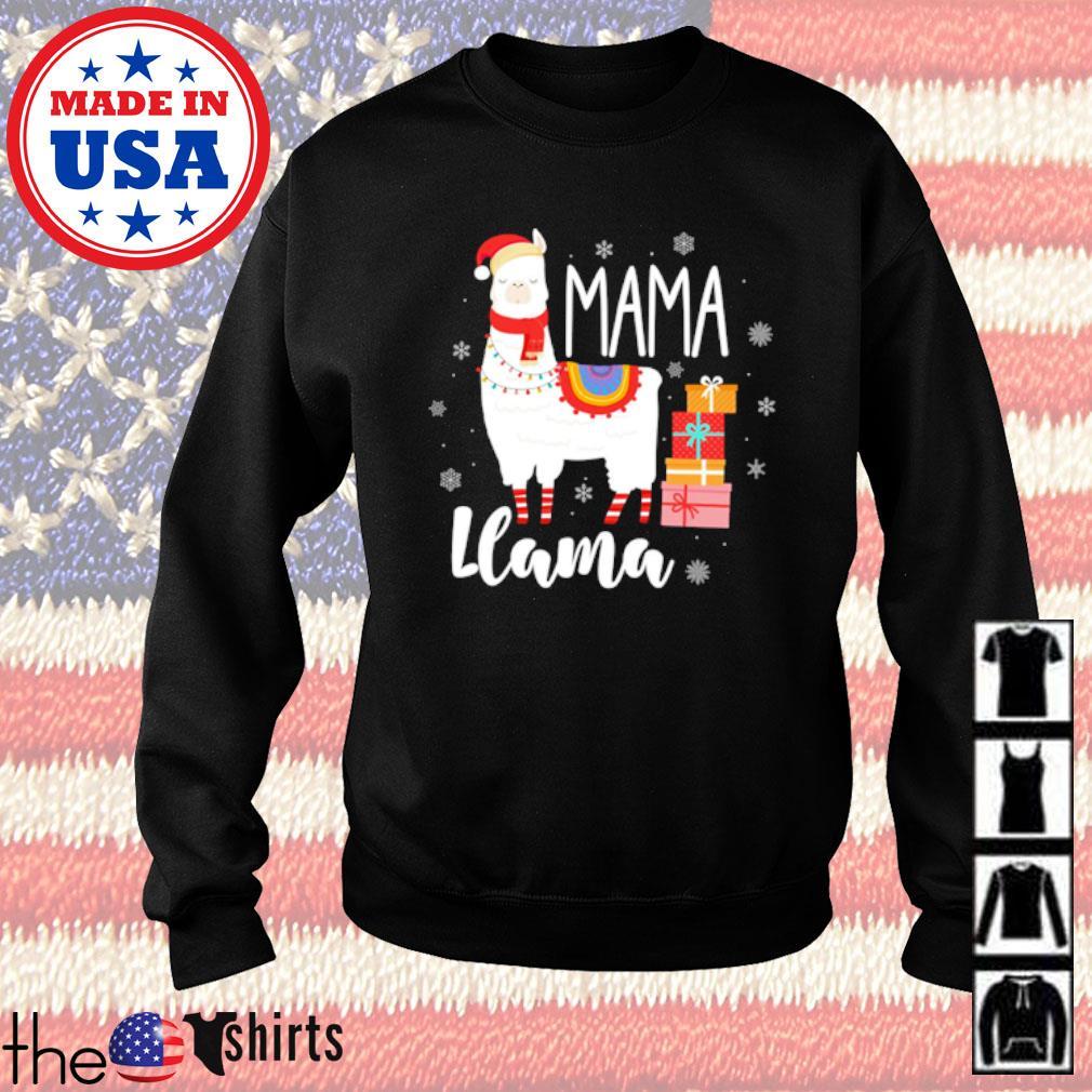 Llama mama Christmas sweater