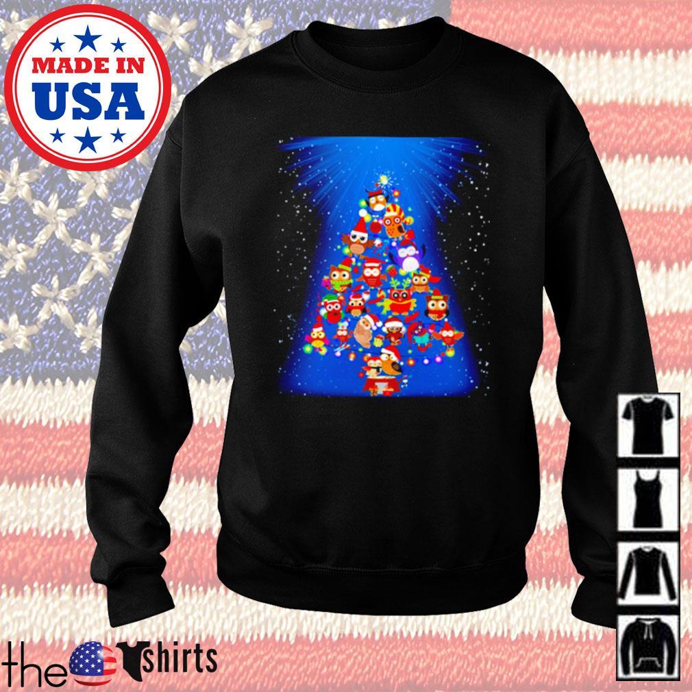 Owl Chistmas tree sweater