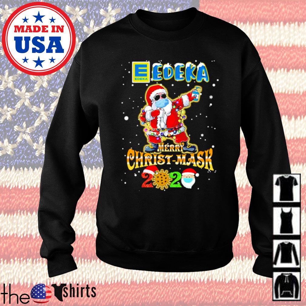 Santa Claus dabbing Edeka merry Christ-Mask 2020 sweater