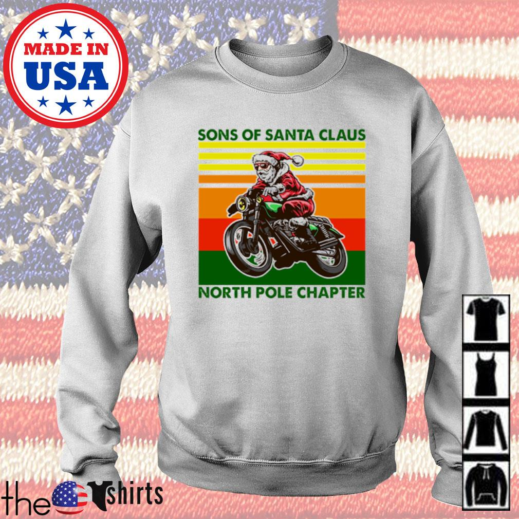 Vintage motorcycle sons of Santa Claus north pole chapter Christmas sweater