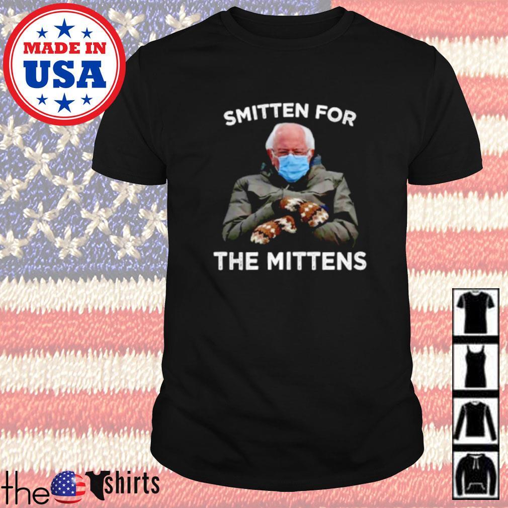 Bernie Sanders face mask smitten for the mittens shirt