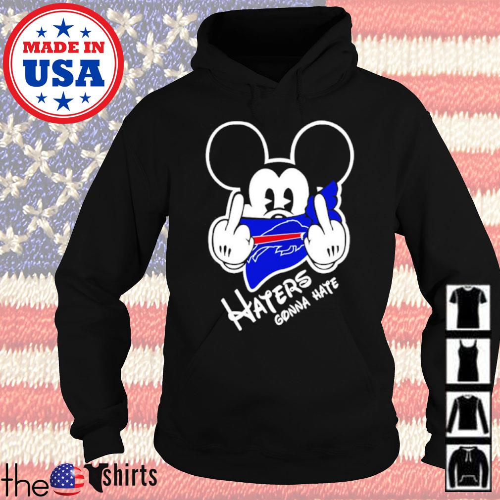 Buffalo Bills football Mickey Mouse middle finger haters gonna hate s Hoodie