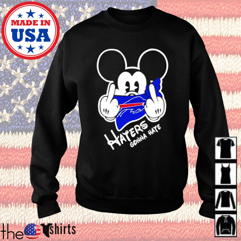 Buffalo Bills football Mickey Mouse middle finger haters gonna hate s Sweater