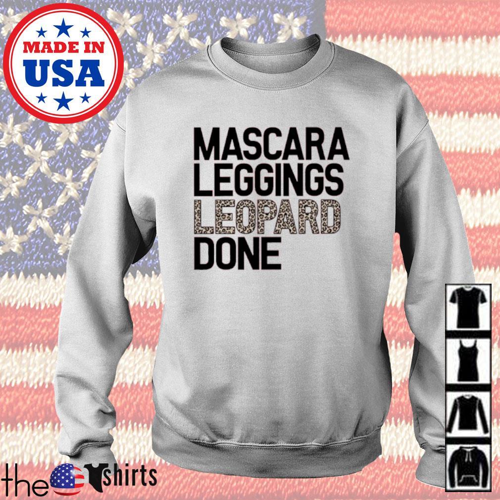 Mascara leggings leopard done s Sweater